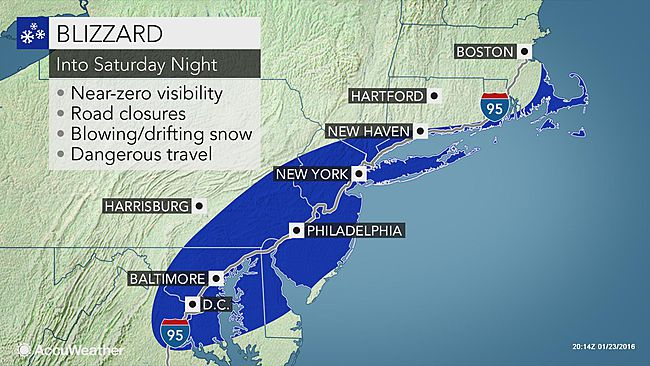 Blizzard to unload 2 feet of snow from DC to Philadelphia, NYC