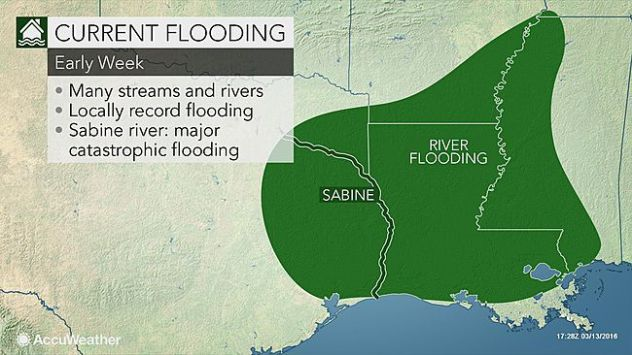Dangerous river flooding to continue this week in Texas ... on chattahoochee river map, wabash river map, united states river map, brazos river map, rio negro river on a map, ohio river map, guadalupe river map, bayou lafourche map, st. johns river map, calcasieu river map, colorado river map, dallas river map, trinity river map, pecos river map, galveston bay river map, tennessee river map, san joaquin river on a map, james river map, arkansas river map, willamette river map,