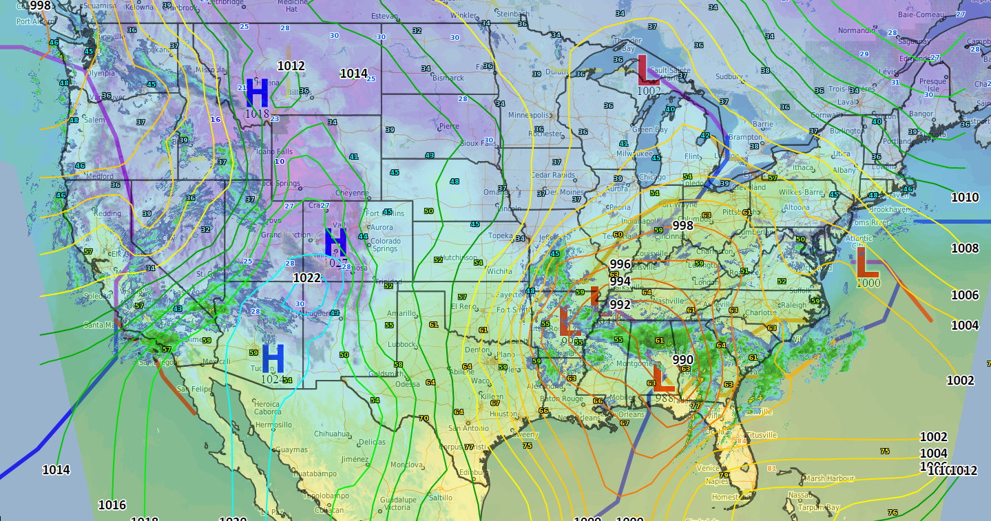 The demise of the surface weather / frontal map