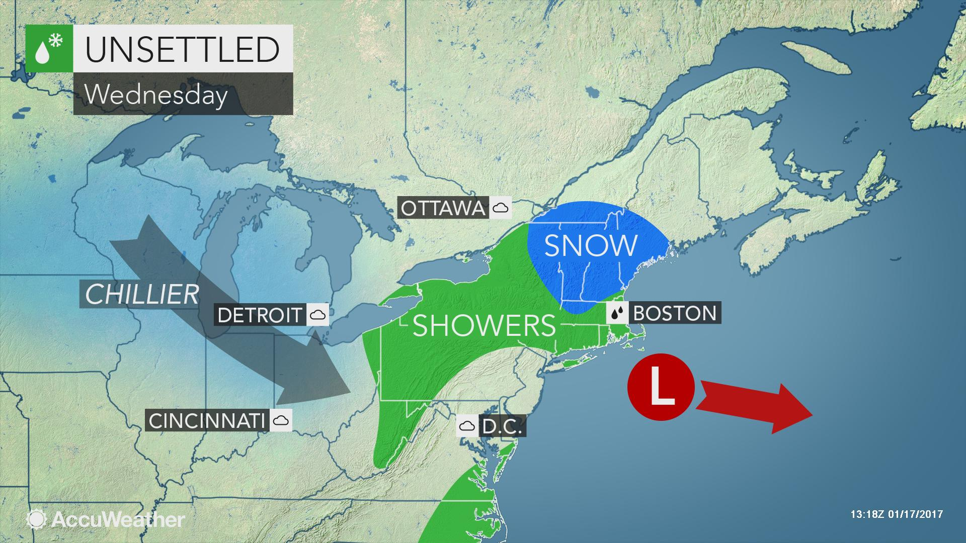 Snow, ice and rain slow travel in northeastern US | AccuWeather