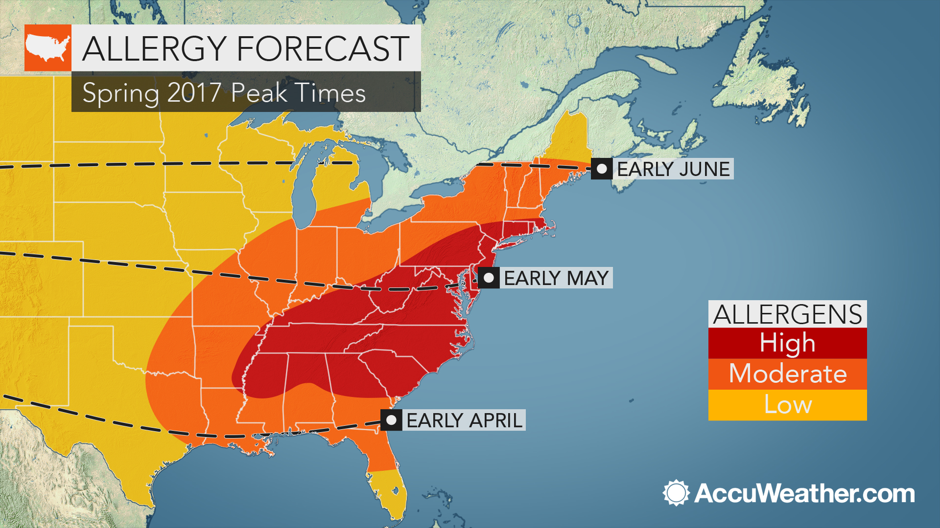 Eastern US allergy sufferers face early, prolonged spring