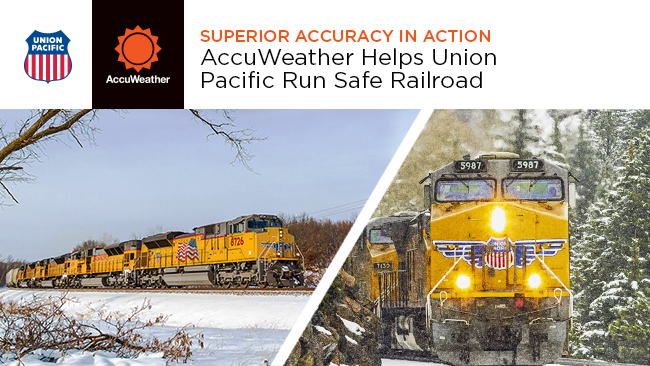 AccuWeather helps Union Pacific run safe railroad