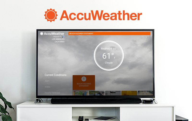 Accuweather Launches New App For Android Tv Accuweather