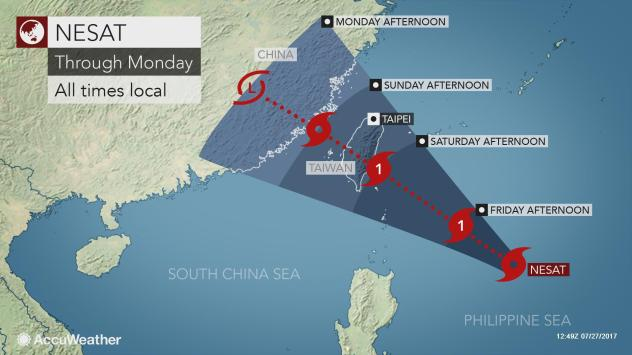 Tropical Storm Nesat To Strengthen Bring Flooding Rain