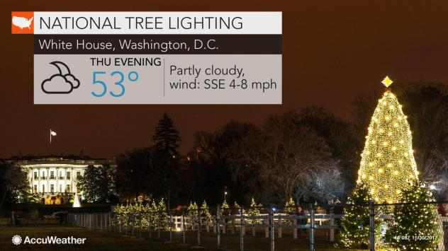 National Christmas Tree Lighting.Mostly Dry Conditions In Store For National Christmas Tree