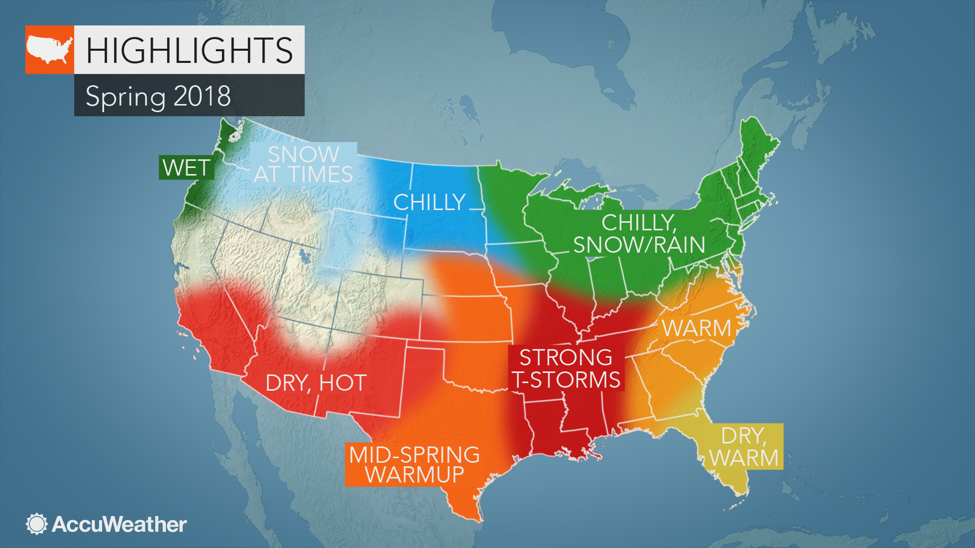 2018 US spring forecast: Cold, snow to linger in Northeast ...