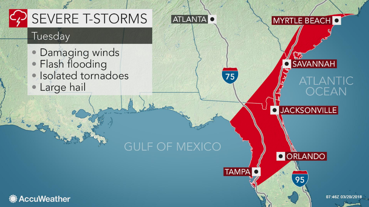 Severe storms, isolated tornadoes to rattle Florida and ... on tampa oldsmar map, tampa orlando map, tampa pinellas county map, tampa bay county map, tampa miami map, tampa zoo map, tampa university map, tampa florida map, tampa california map, tampa seattle map,