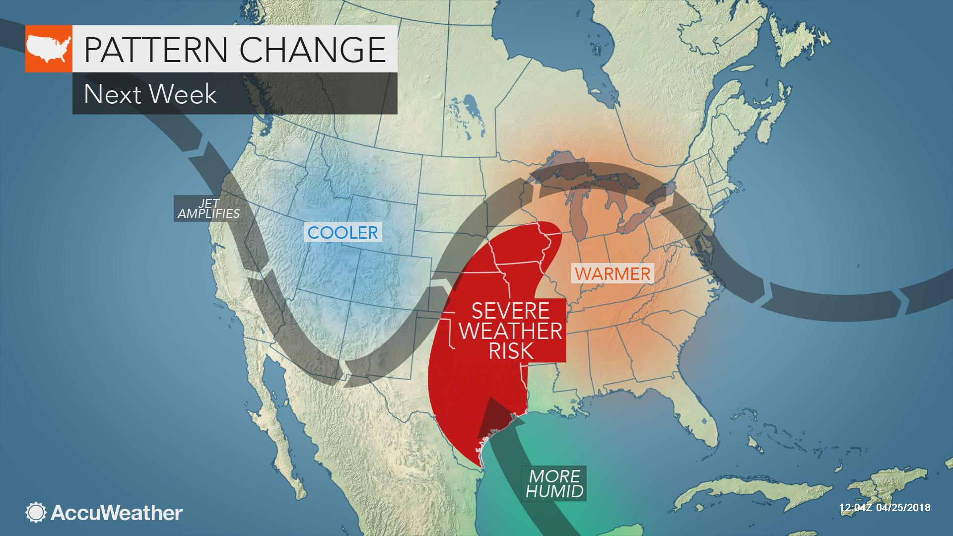 severe weather map us Severe Weather Outbreak Tornado Risk Poised To Strike Central Us Next Week Accuweather