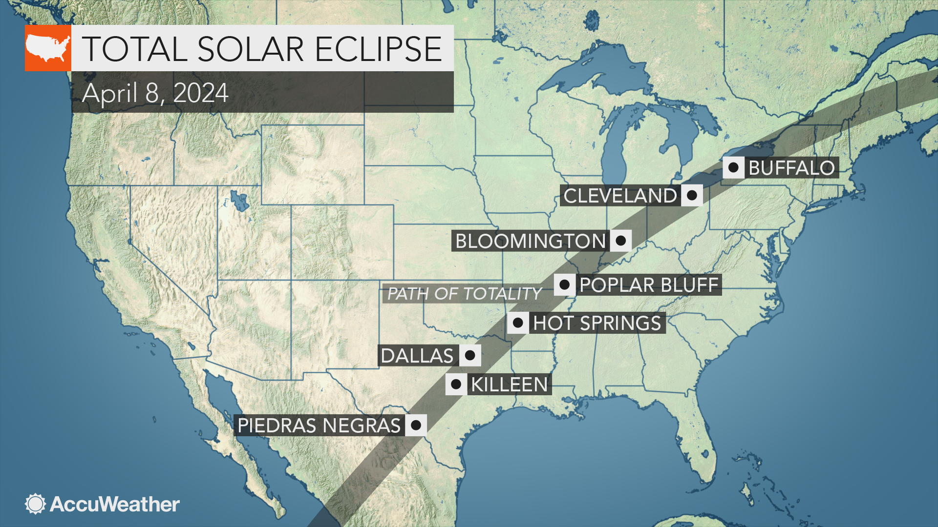 Guide to the 2024 total solar eclipse across the eastern