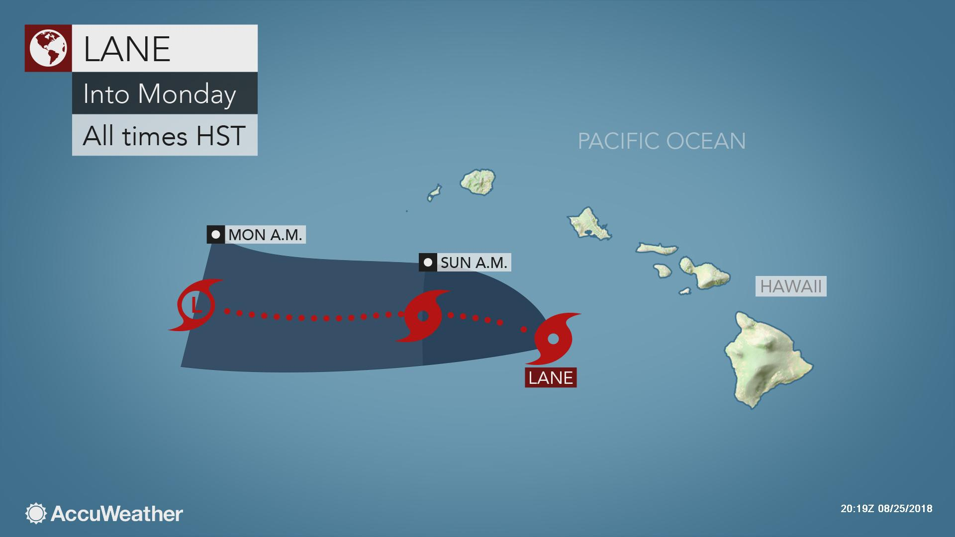 Lane's extreme rain in Hawaii triggers major flooding