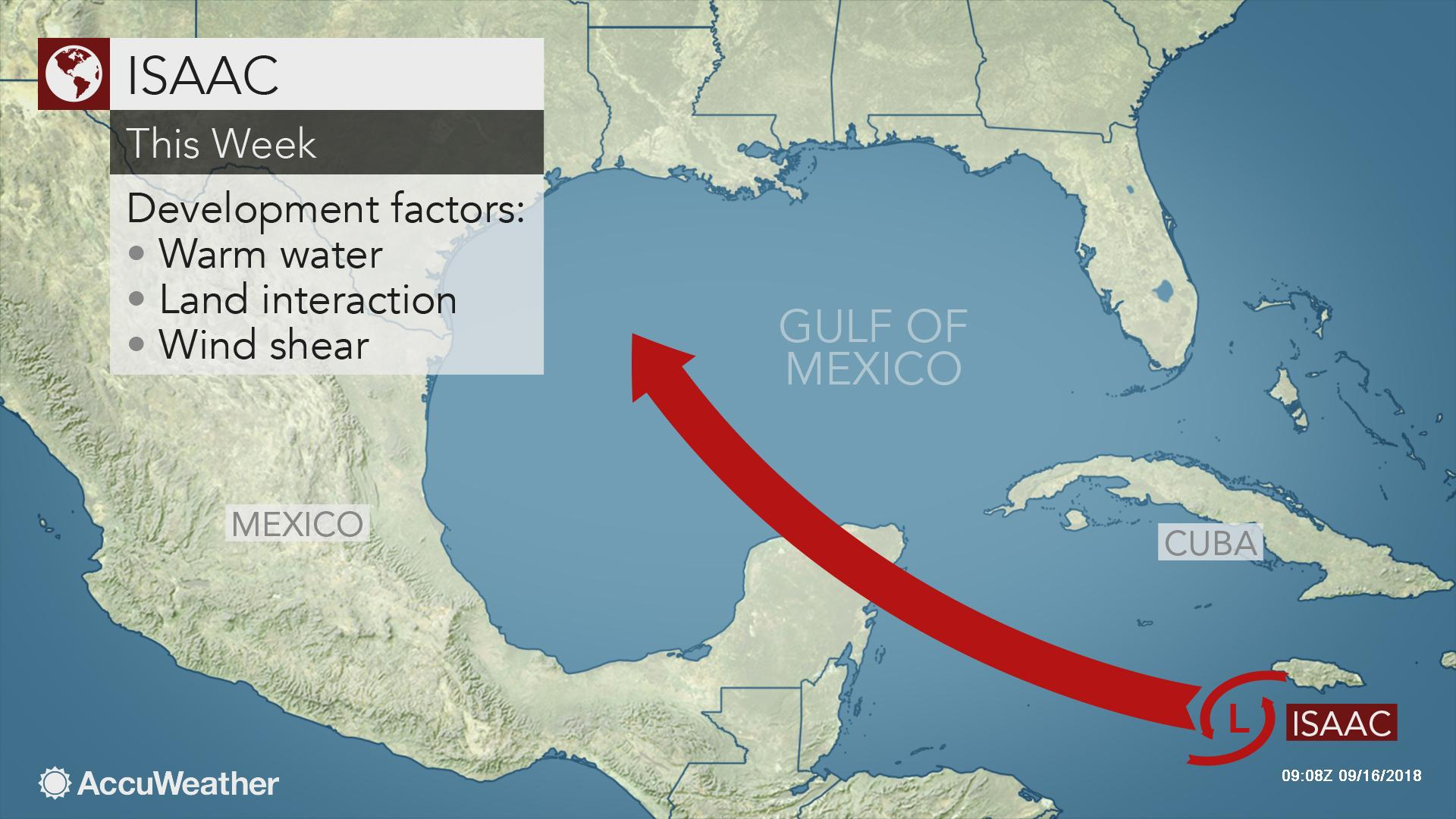 Isaac may restrengthen in western Caribbean, Gulf of Mexico ...