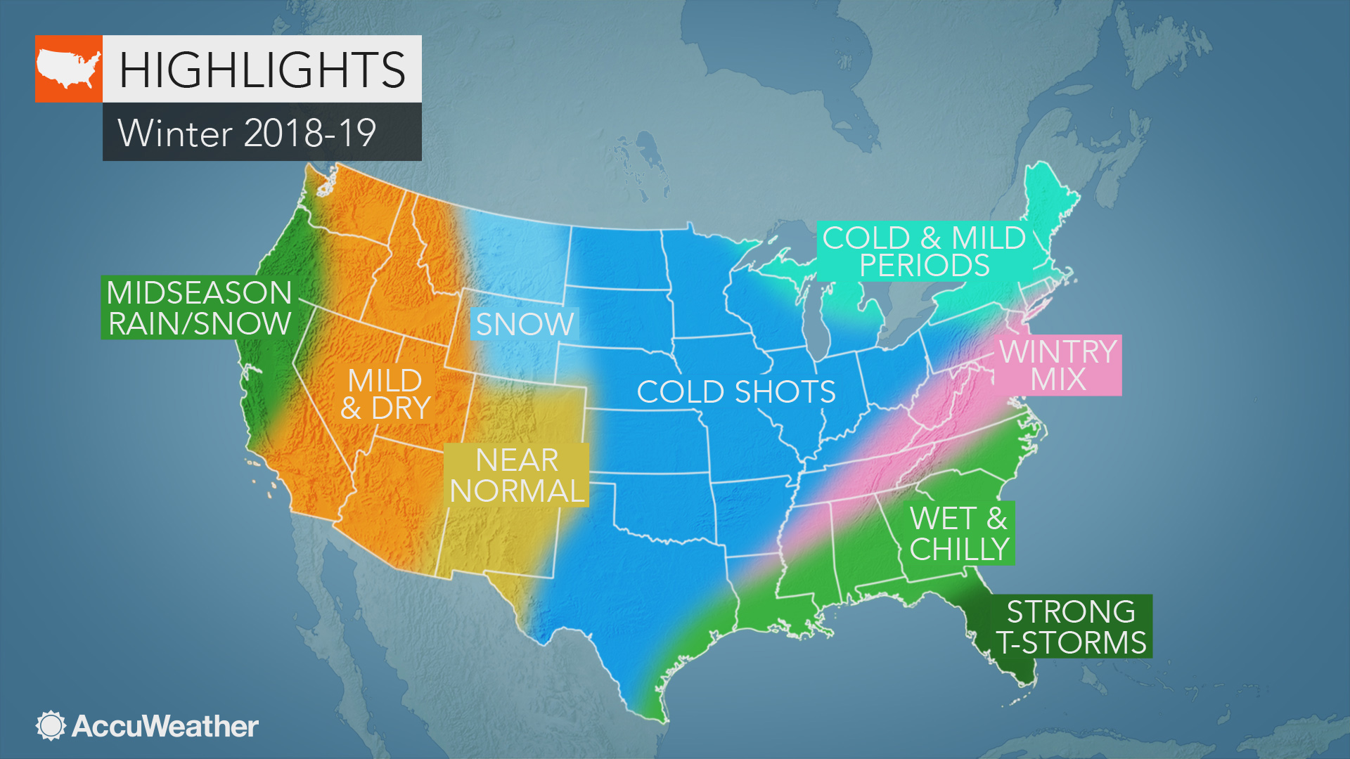 Winter 2020 Forecast Chicago.Accuweather S Us Winter Forecast For 2018 2019 Season
