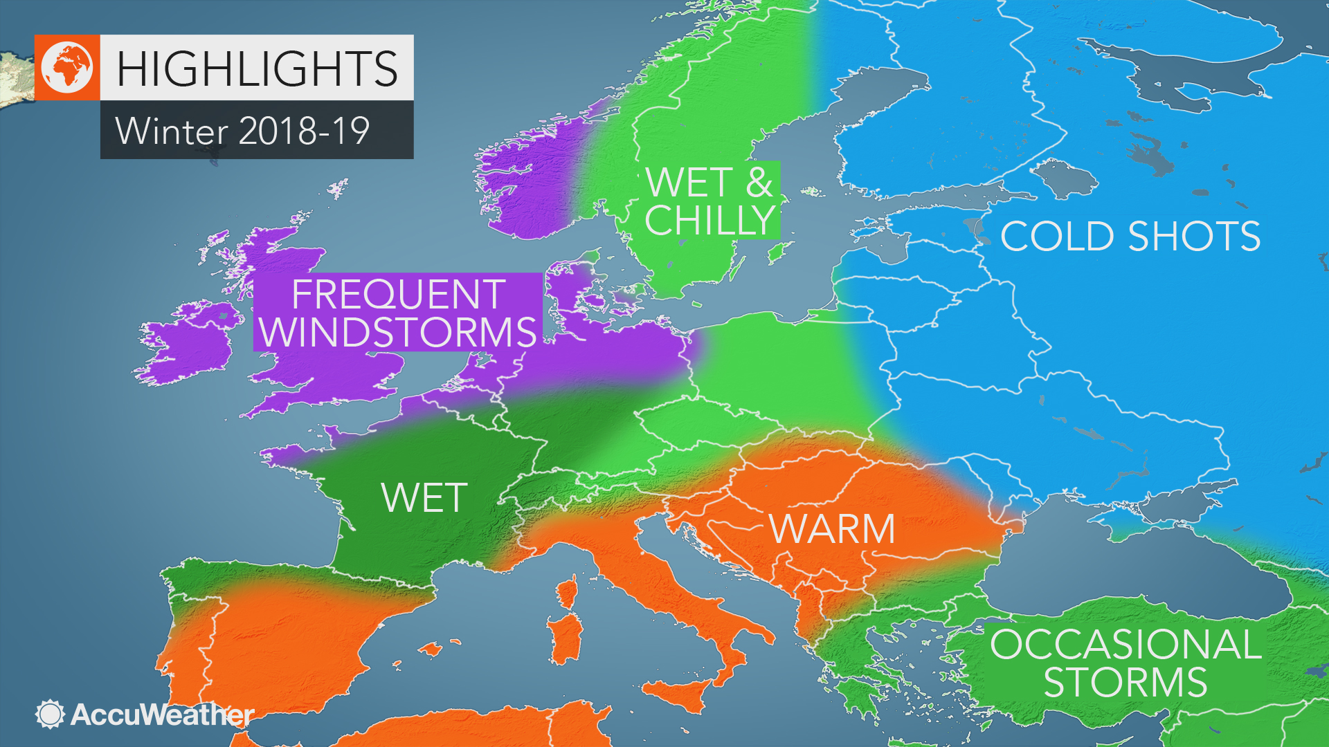 accuweather 39 s europe winter forecast for the 2018 2019. Black Bedroom Furniture Sets. Home Design Ideas