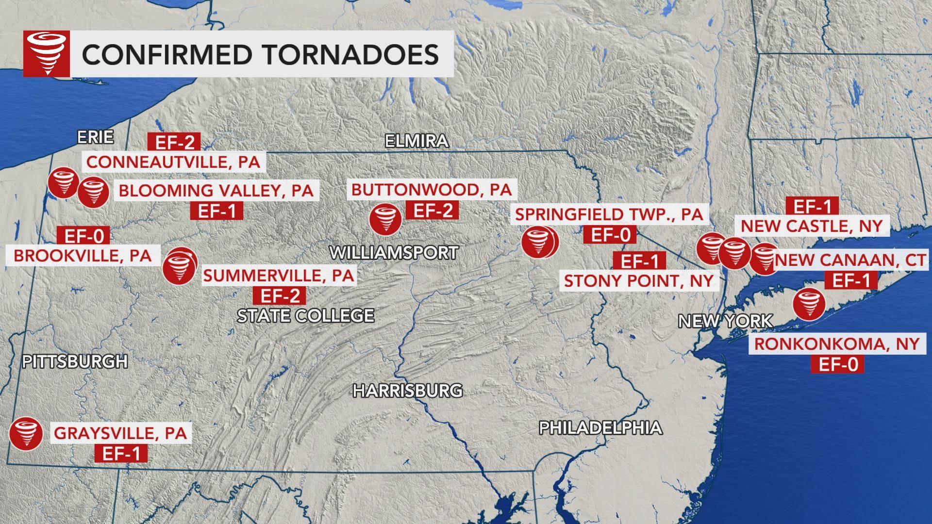 More than a dozen tornadoes descended on Pennsylvania ...