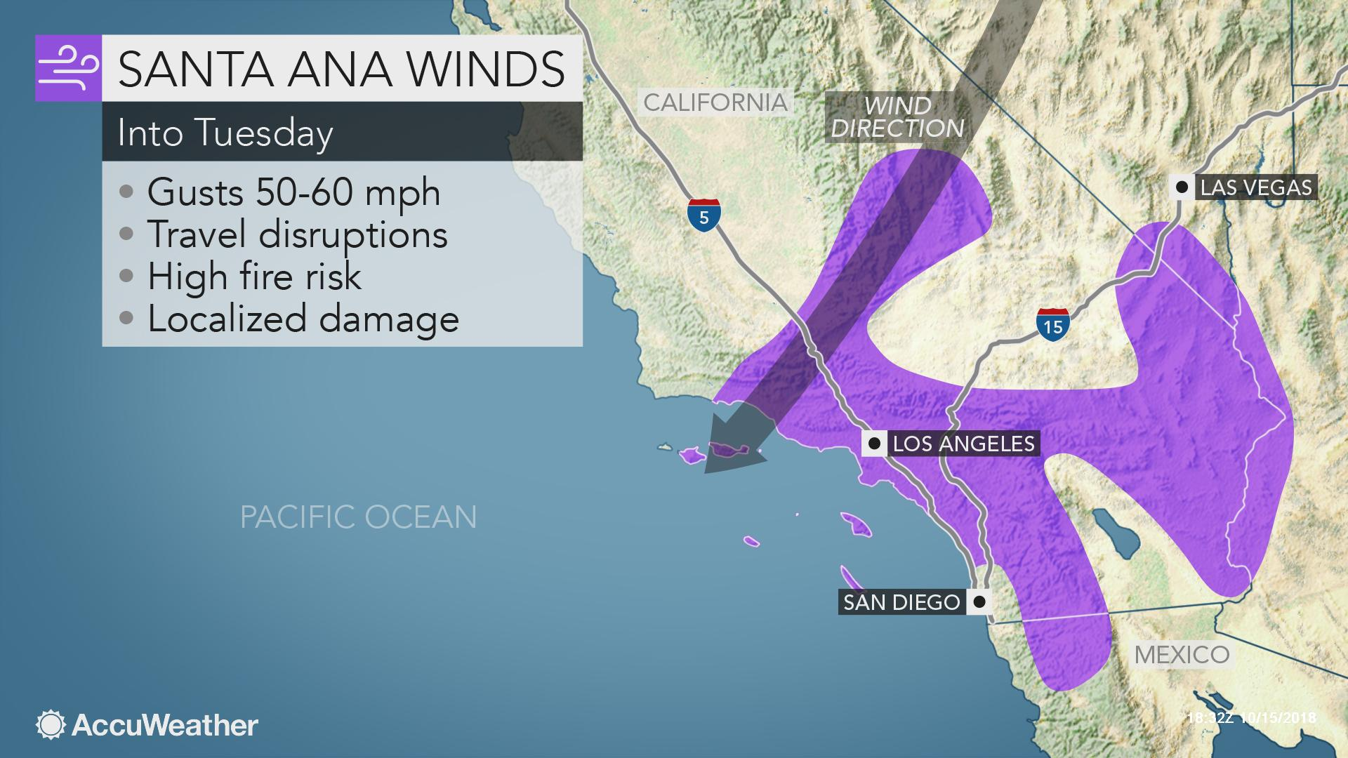 Santa Ana winds to elevate fire danger in Southern ... on las vegas ca map, la purisima mission ca map, palo alto ca map, downey ca map, palm desert ca map, newport harbor ca map, puente hills ca map, n hollywood ca map, hacienda ca map, chicago ca map, seal beach ca map, fort worth ca map, ridgecrest ca map, san ysidro ca map, solano beach ca map, fresno ca map, fountain valley ca map, san bernardino ca map, anaheim ca map, baldwin lake ca map,
