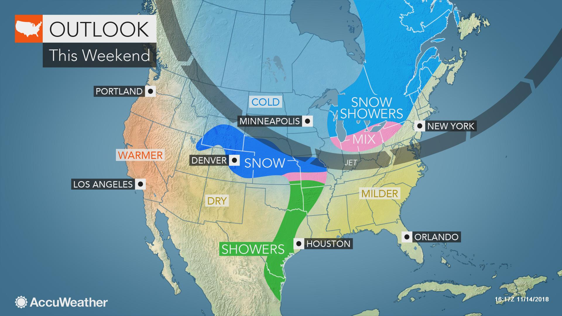 Thanksgiving travel: Most areas of US to dodge major weather
