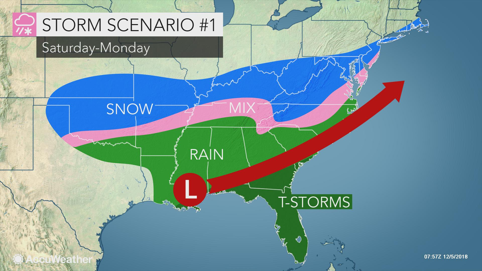 Where will a weekend storm deliver snow in the eastern US ...