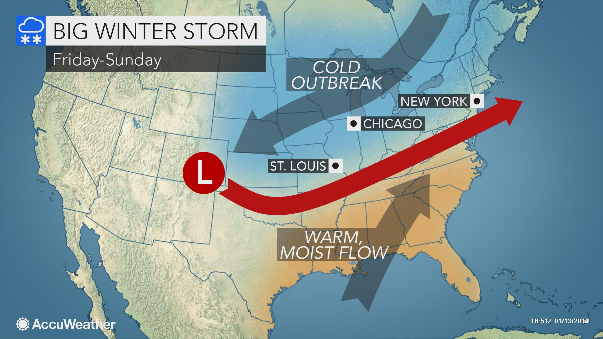 Eastern, central US to face more winter storms, polar plunge after calmer first half of this week