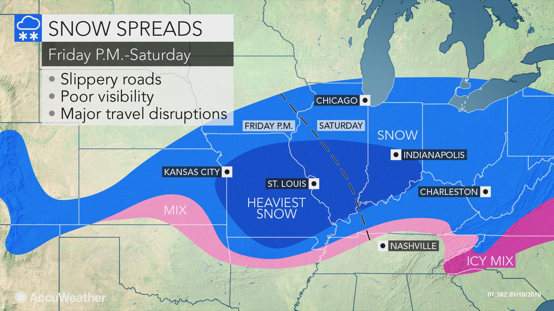 Is Missouri Expecting Heavy Snow At Christmas 2019 Snowstorm poised to hinder travel from Missouri through Ohio