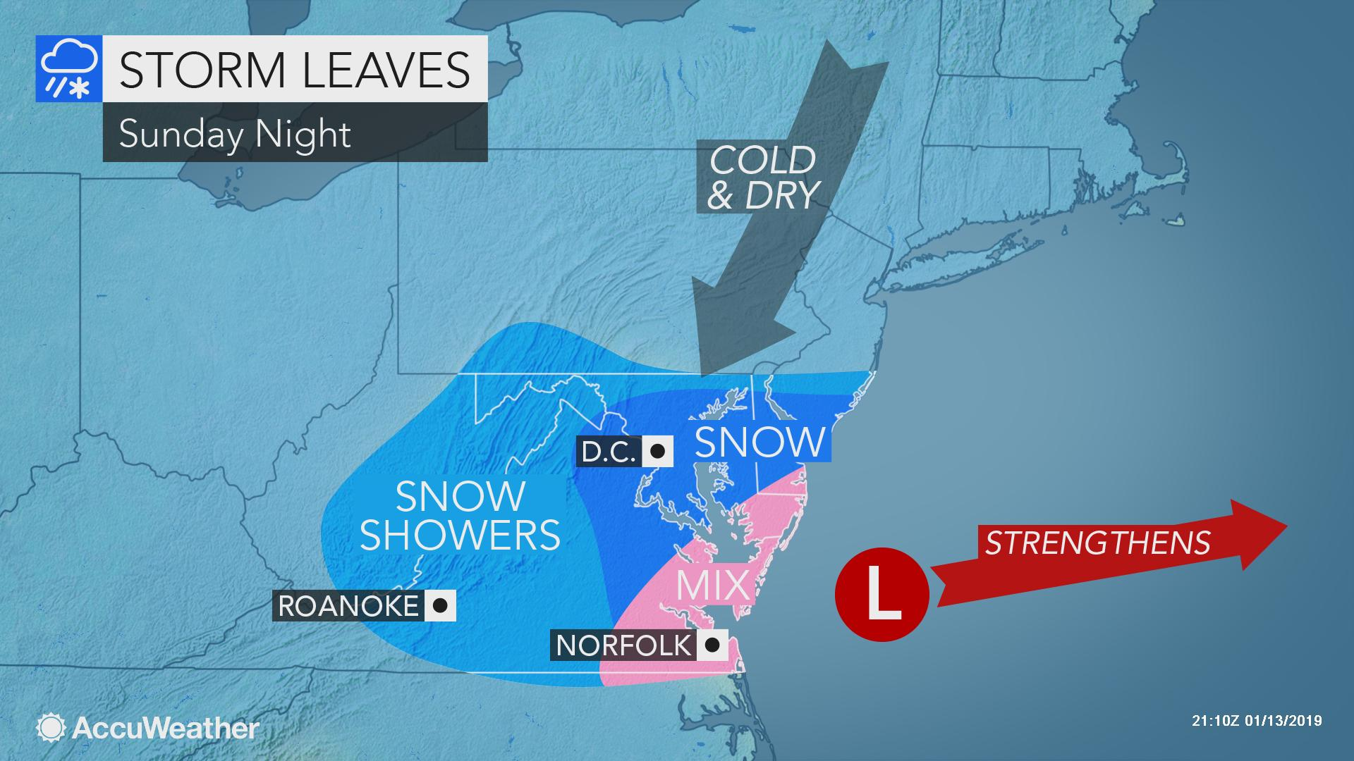 Travel-snarling snowstorm to focus on mid-Atlantic through