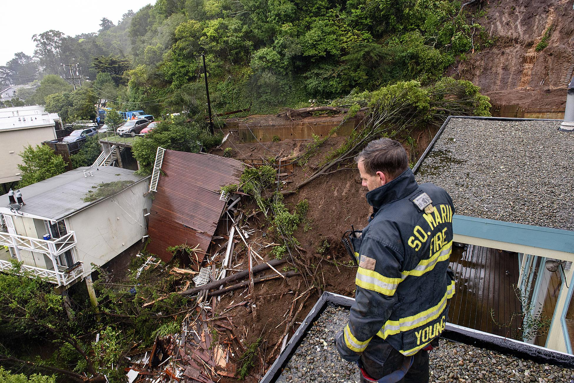 Mudslide ransacks homes in Sausalito as an atmospheric river