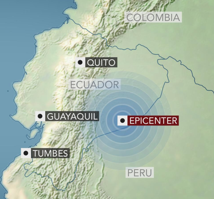 Powerful 7 5 magnitude earthquake strikes Ecuador