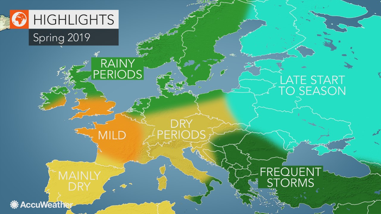 AccuWeather 2019 Europe spring forecast