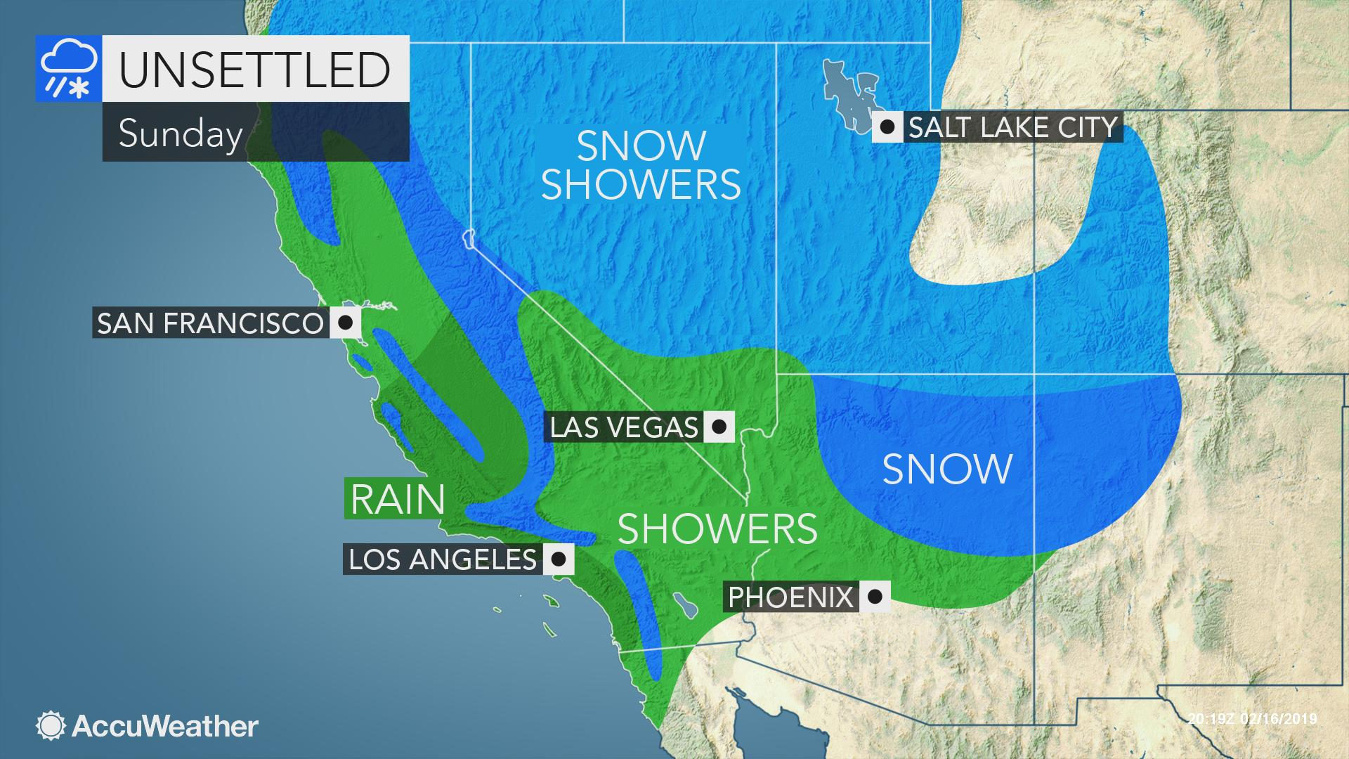 Chilly, unsettled weather to persist in western US into ...