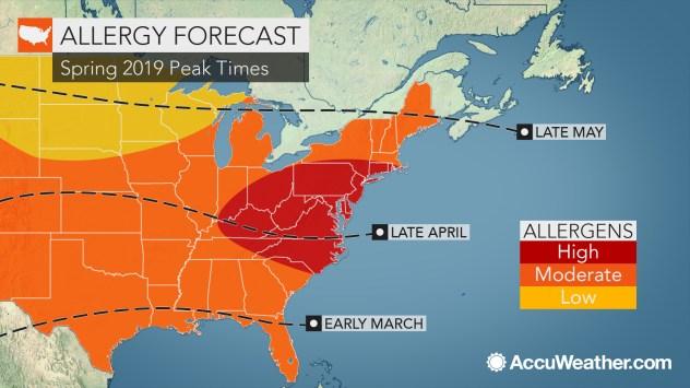AccuWeather 2019 US spring allergy forecast | AccuWeather