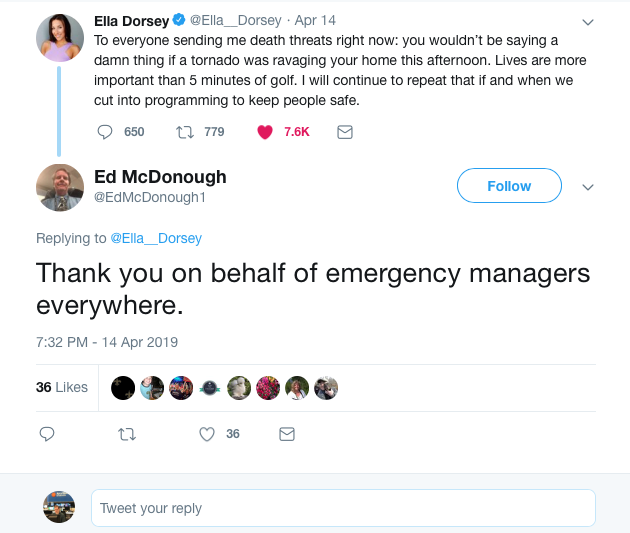 TV meteorologist responds to viewer death threats she