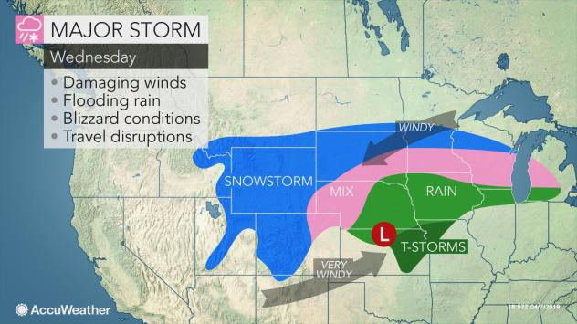 Powerful storm to cross US this week with snow, rain, high