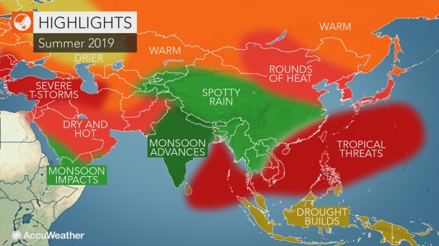 AccuWeather 2019 Asia summer forecast