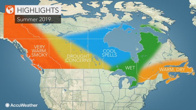 AccuWeather 2019 Canada summer forecast | AccuWeather on snowpack map, new york blizzard weather map, frost depth map, roof loading map, snowfall by state map, asce-7 05 snow laod map, snowfall potential map, zip code map, catamount ski area map, snow probability map, compressor map, r-value map, average annual snowfall map, new york snowfall map, snow loading map ohio,