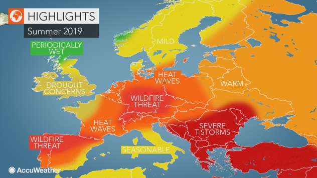 AccuWeather 2019 Europe summer forecast