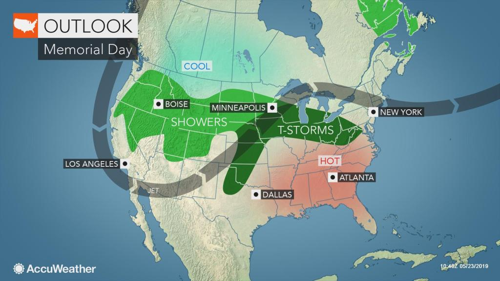 Memorial Day outlook: Storms to threaten central, western US