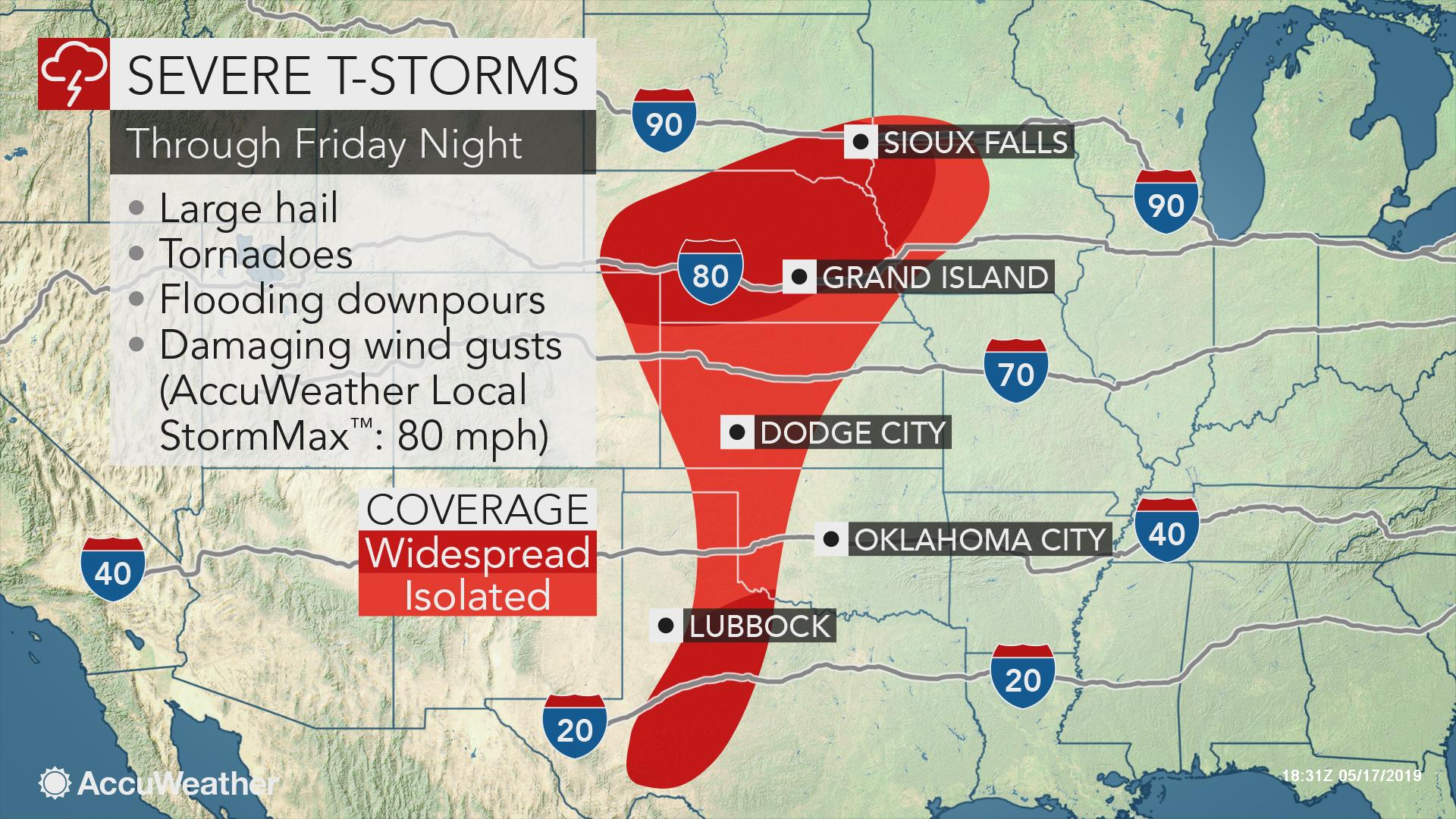 Dangerous severe weather threat packing tornadoes and large