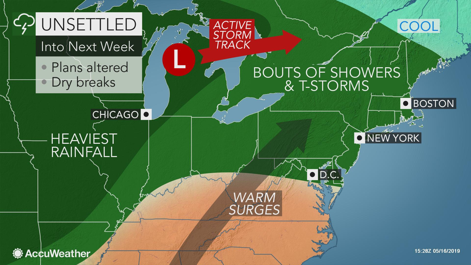 1st 90-degree heat in sight for parts of mid-Atlantic, Ohio