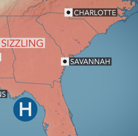 Heat wave tightens grip on Southeast US as dozens of high ... Sarasota Map Of Southeast United States on map of southeast texas, map of usa, driving map of united states, map of southwest united states, map of tennessee, topographical map of united states, map of southeast us, map of east coast united states, map of north carolina, map of mideast united states, map of the southeast, printable map of united states, map of the united states, map of south mississippi, map of california, large map of united states, political map of united states, capitals of the united states, map of alabama, map of contiguous united states,