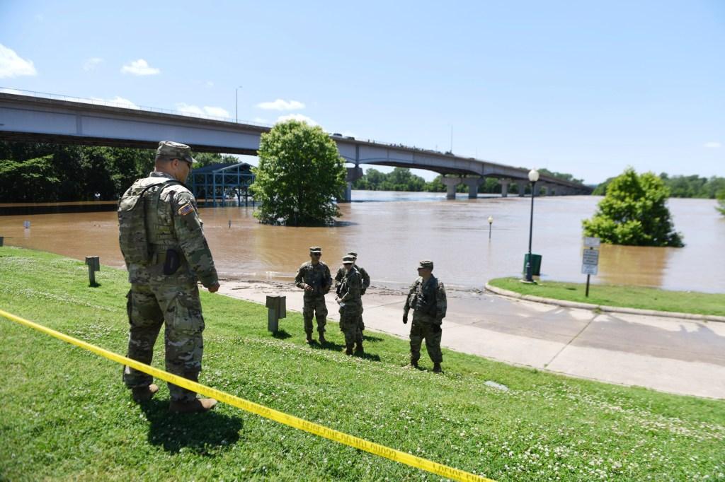 Levee failures along Mississippi, Missouri and Arkansas