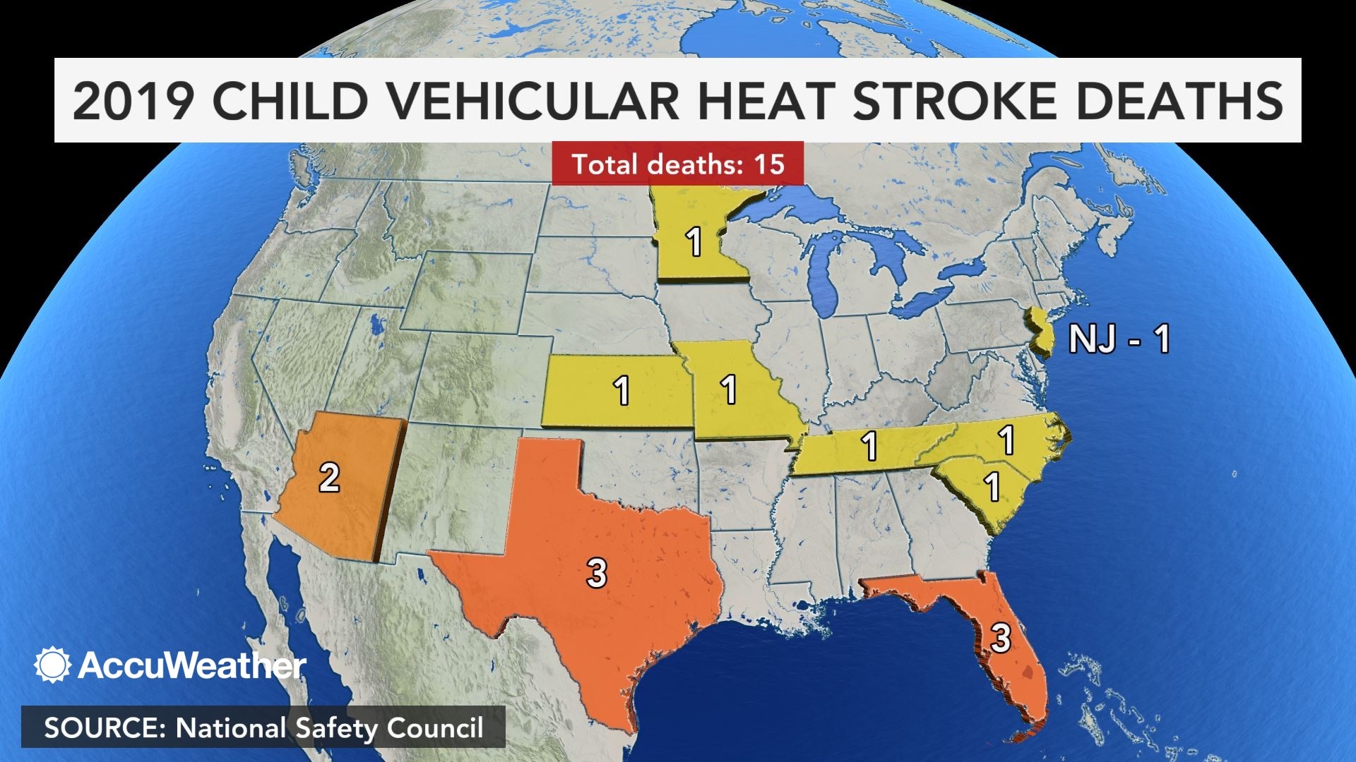 Following news of 15th child hot car death in US, what areas