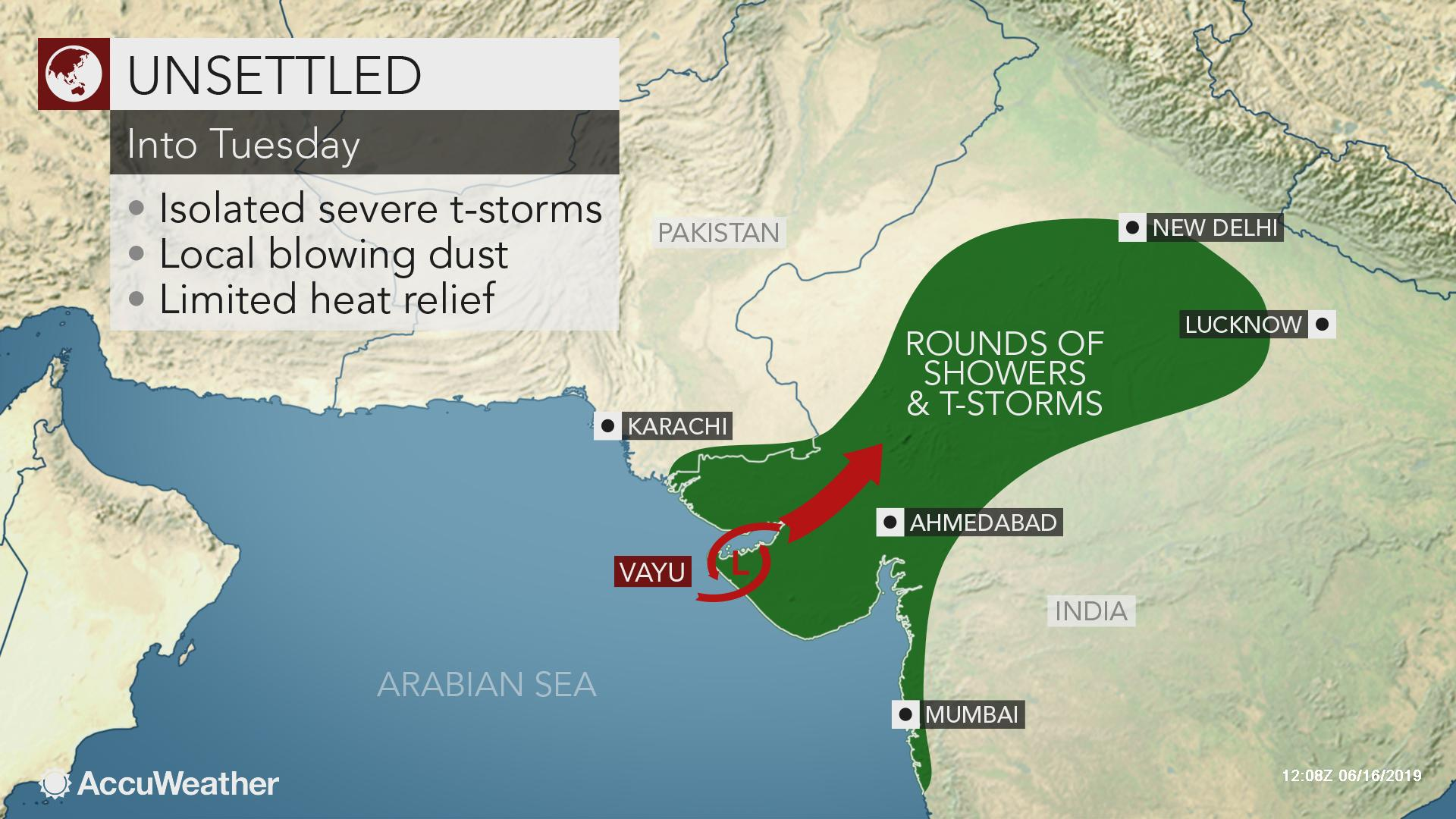 Cyclone Vayu spares India coast a direct hit, may bring some