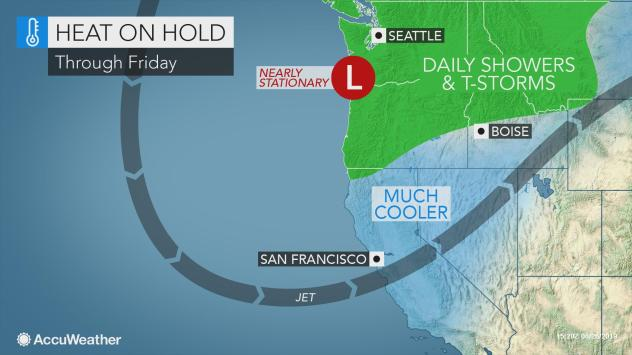 Cooler, stormy weather ahead in the Pacific Northwest this week
