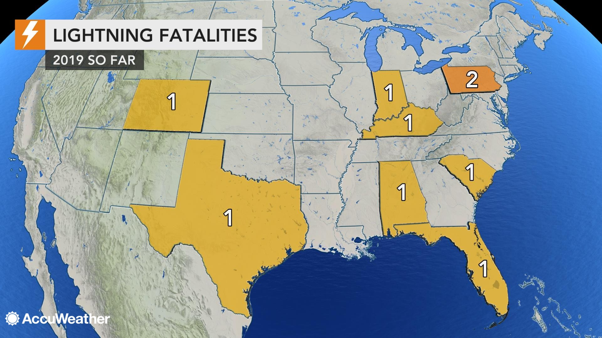 U S  lightning fatality death toll for 2019 rises after