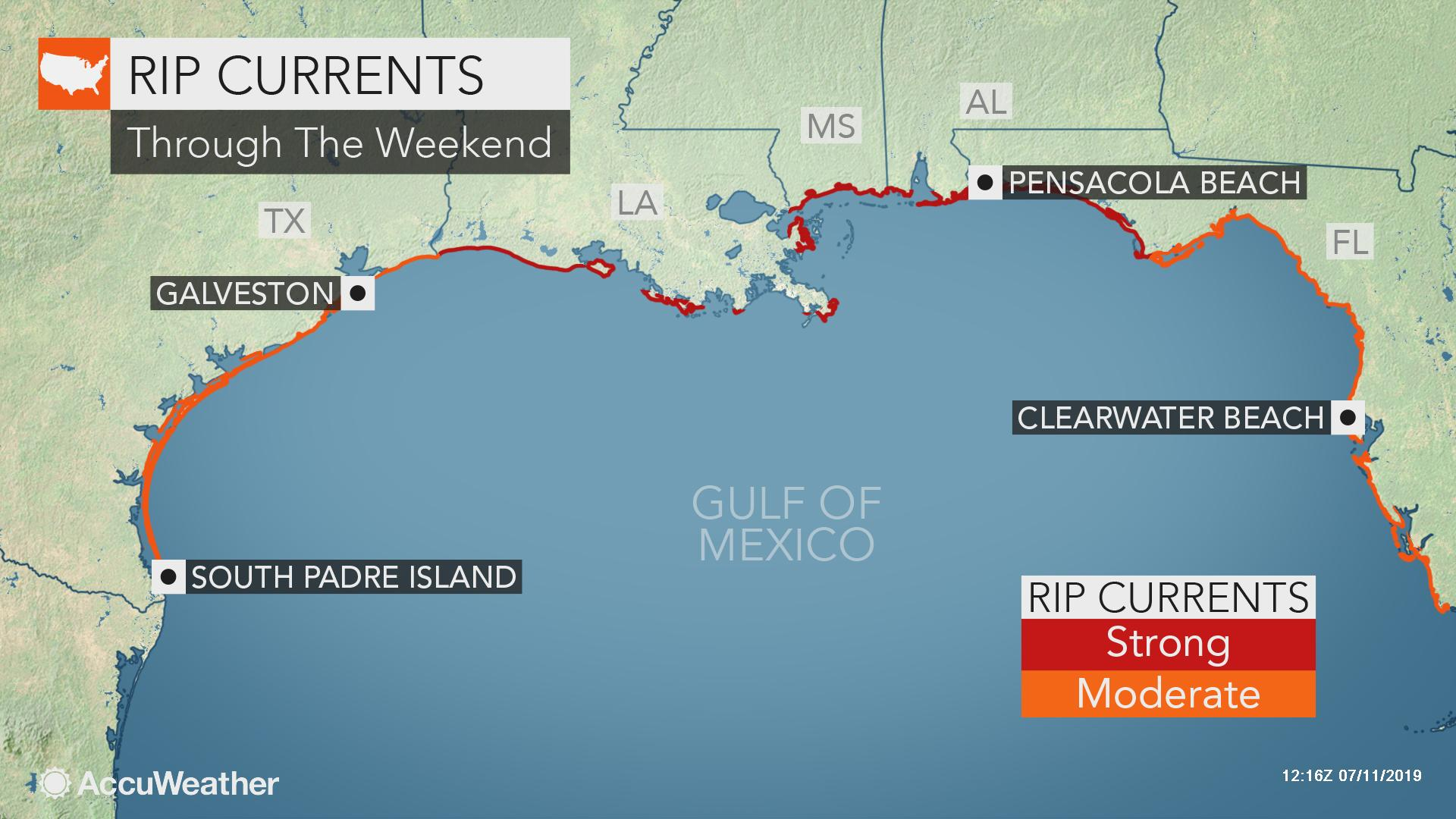 Dangerous seas, rip currents to threaten areas hundreds of