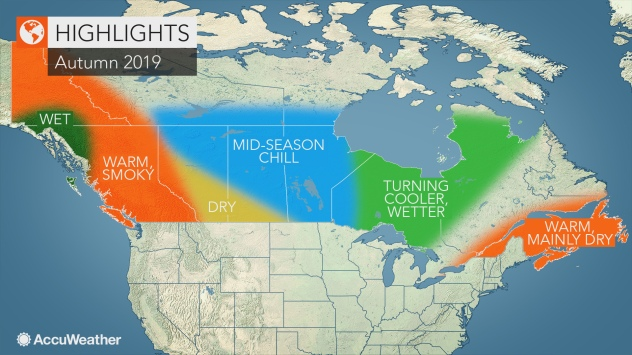 AccuWeather's 2019 Canada autumn forecast | AccuWeather on canada weather forecast map, los angeles temperature map, world temperature map, canada wind map, canada weather today, canada weather radar, north america climate map, canada climate map, 2014 us winter temperature map, canada weather 14-day, vancouver temperature map, canada rainfall map, weather network satellite map, weather temp map, british columbia temperature map, canada winter climate, canada humidity map, united states by average temperature map, weather ontario canada map, forecast temperature map,