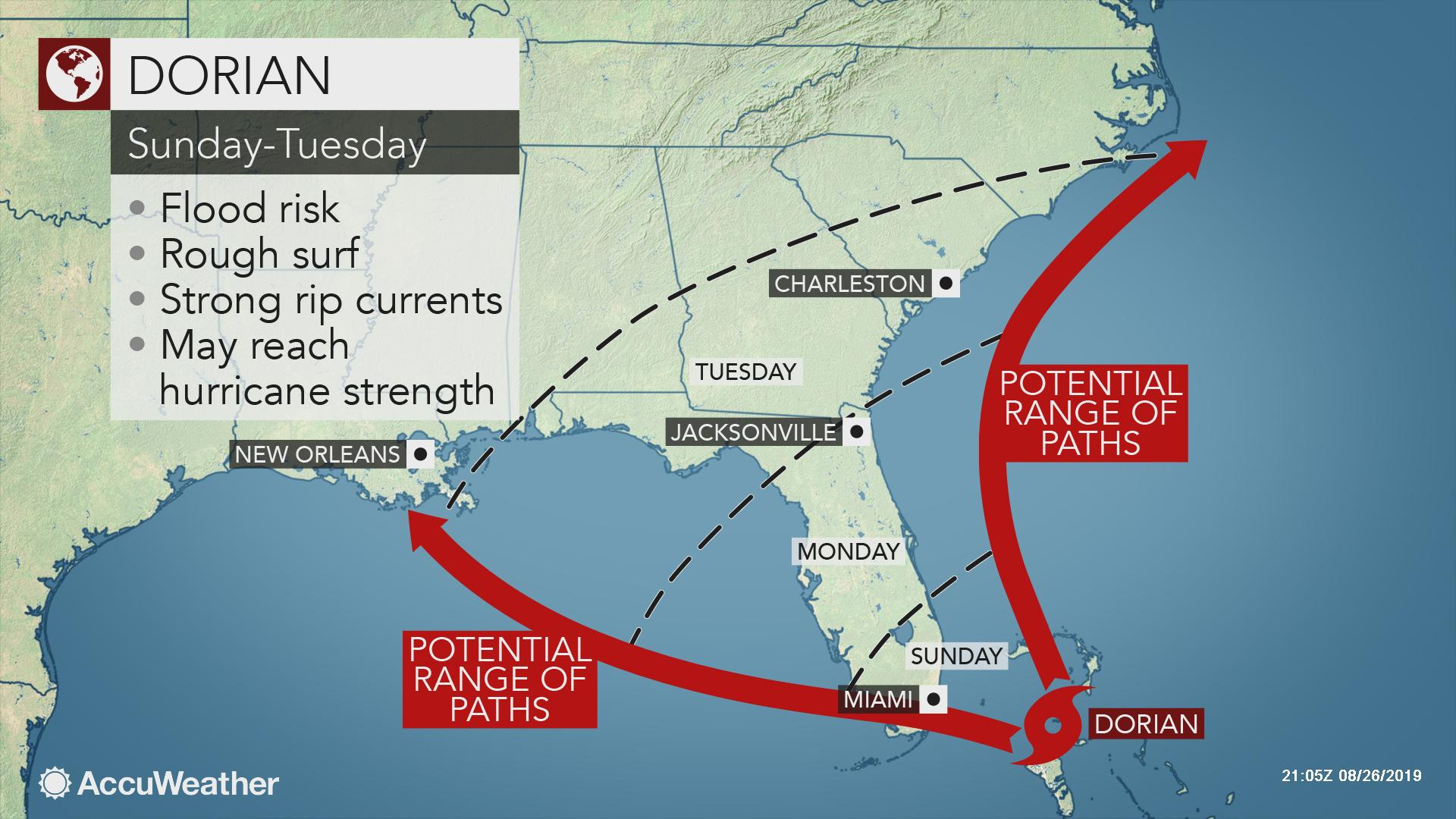 Tropical Storm Dorian to intensify as it moves over the ...