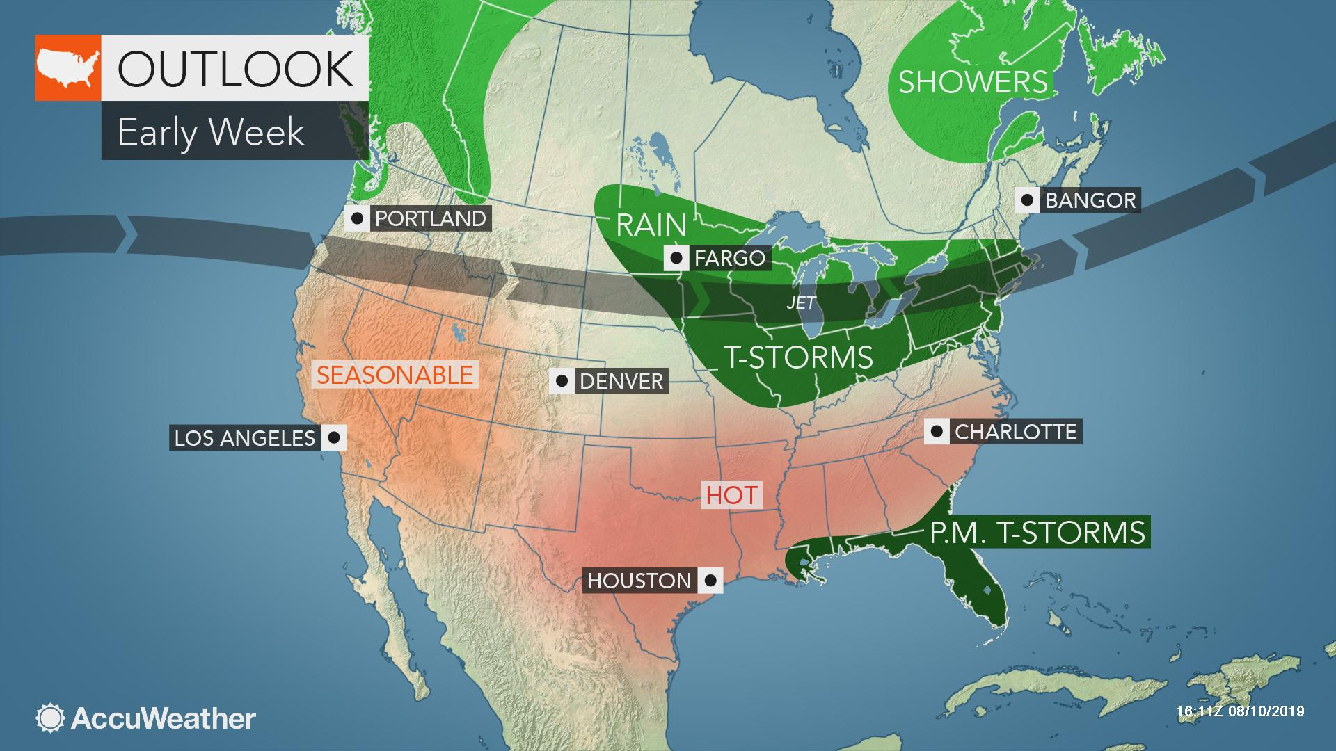 Drenching, gusty storms to accompany cooler air in