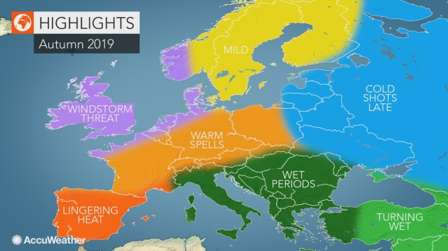 Accuweather Winter Forecast 2020.Accuweather S 2019 Europe Autumn Forecast As We Turn The