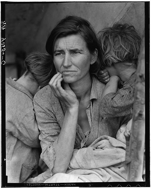 Florence Owens Thompson and her kids were the focus of photographer Dorothea Lange