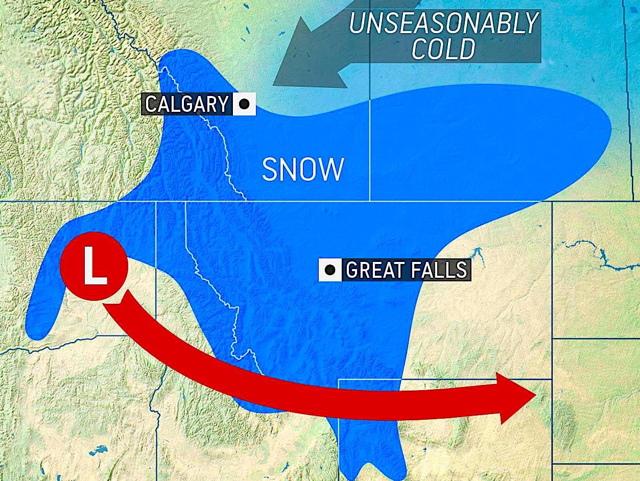 1st blizzard of season to wallop northern US with up to 3 feet of snow